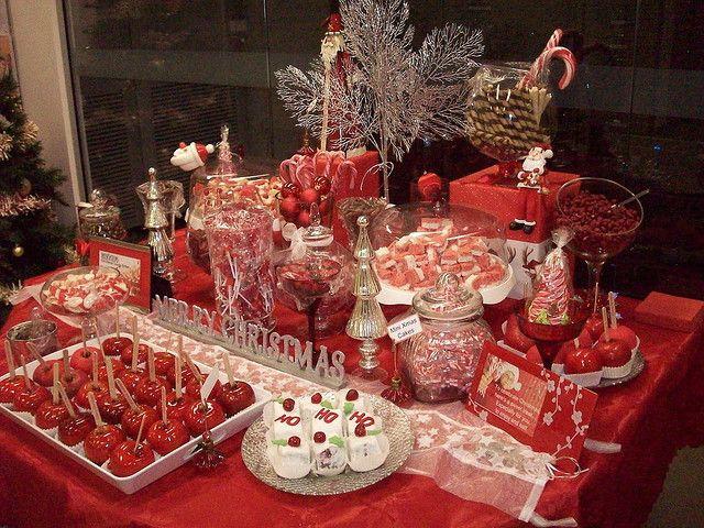 Christmas Candy Buffett  Christmas Candy buffet bar