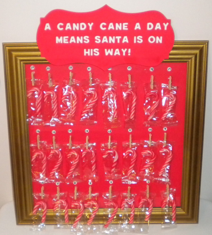 Christmas Candy Calendar  Jean s Crafty Corner Candy Cane Advent Calendar