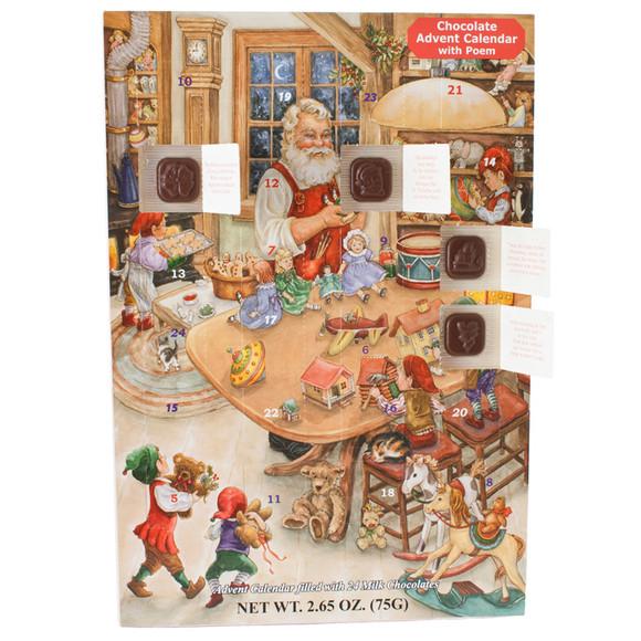 Christmas Candy Calendar  Santa s Naughty or Nice Chocolate Advent Calendar