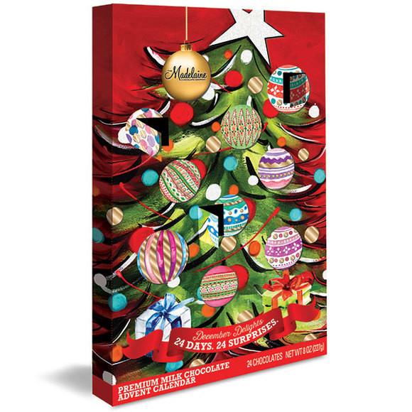 Christmas Candy Calendar  Deluxe Christmas Tree Chocolate Advent Calendar