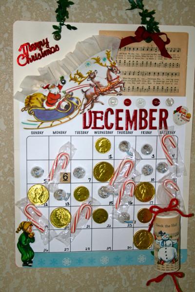 Christmas Candy Calendar  Christmas Candy Calendars Vintage Street Market