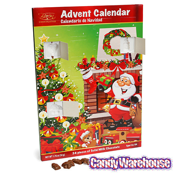 Christmas Candy Calendar  Christmas Chocolate Advent Calendar