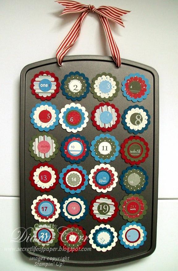 Christmas Candy Calendar  The Secret Life of Paper Christmas Candy Countdown Calendar