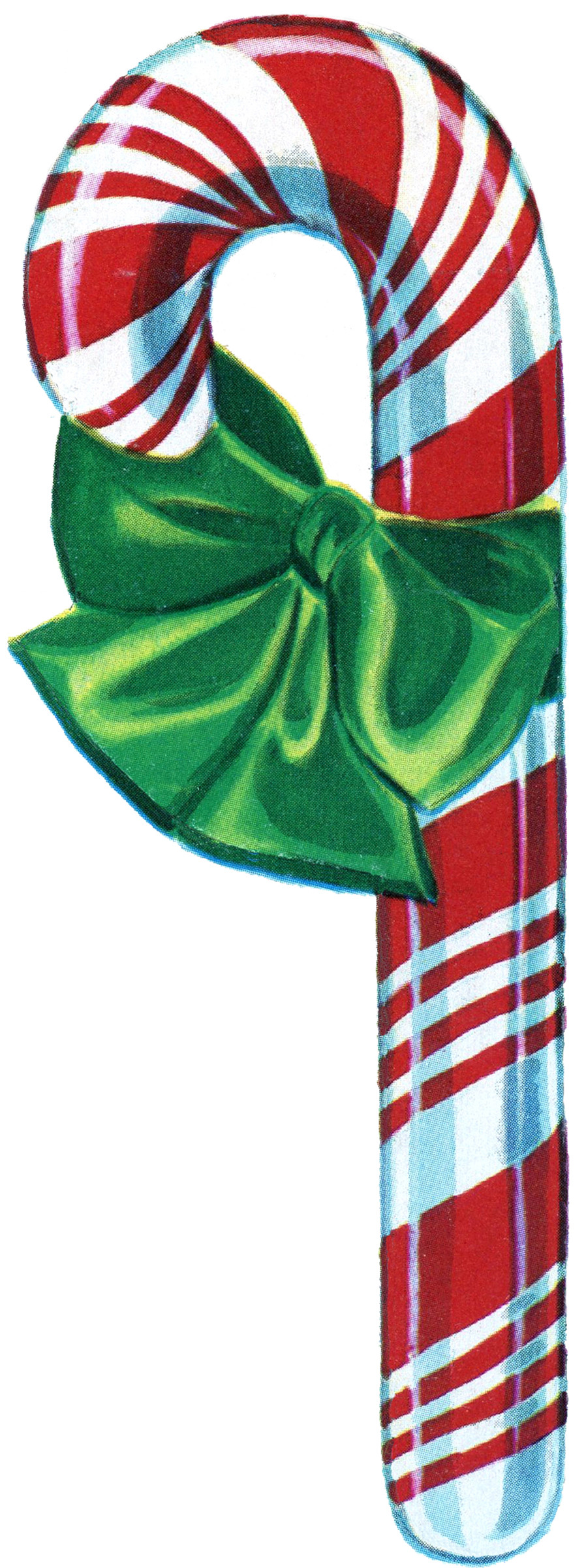 Christmas Candy Cane Clipart  Free Vintage Christmas Clip Art Candy Cane The