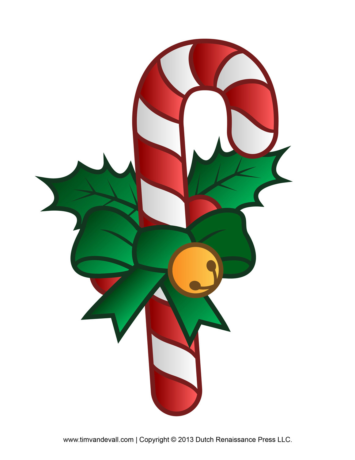 Christmas Candy Cane Clipart  Free Candy Cane Template Printables Clip Art & Decorations
