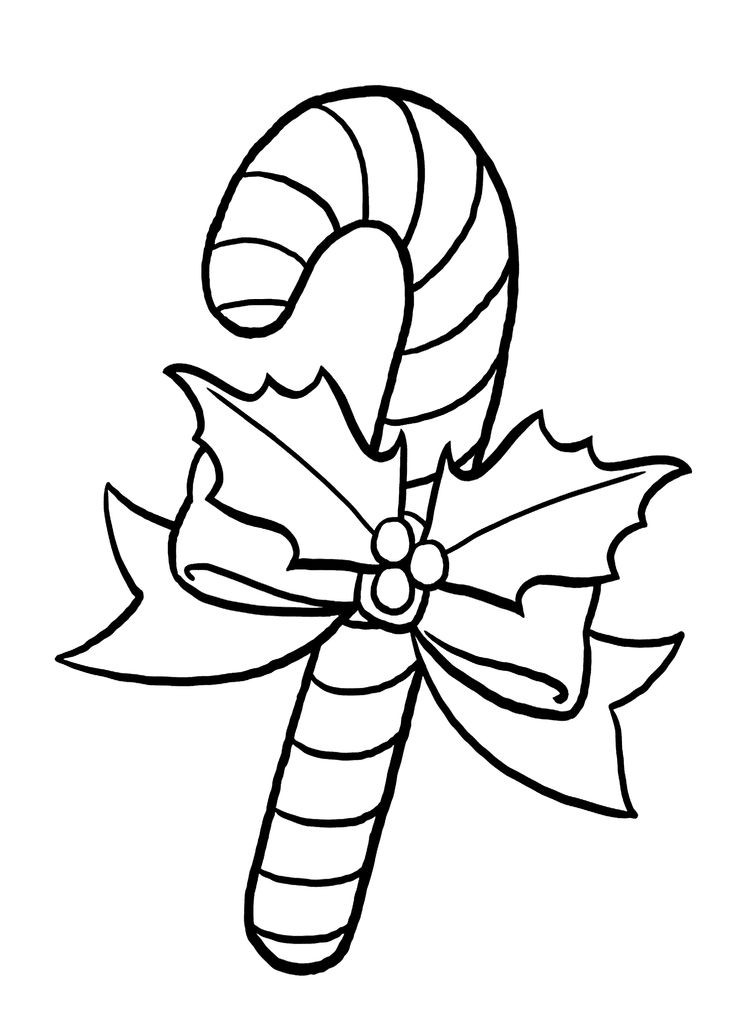 Christmas Candy Cane Coloring Pages  67 best Holidays coloring pages for kids images on