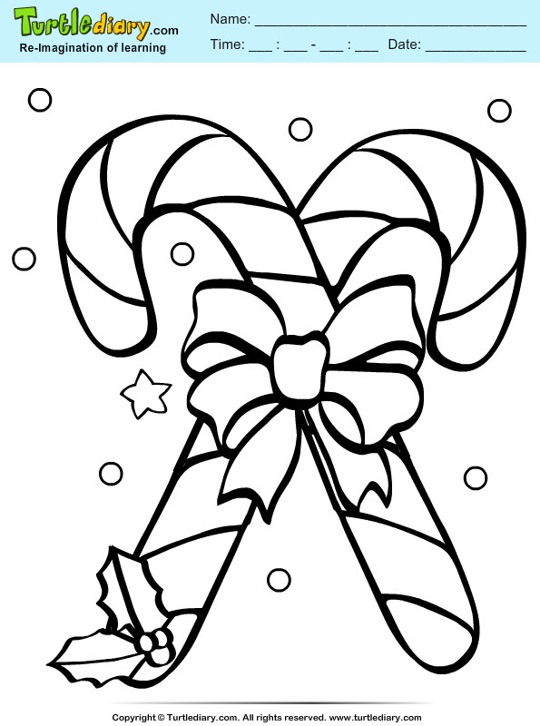 Christmas Candy Cane Coloring Pages  Christmas Candy Coloring Pages to Pin on