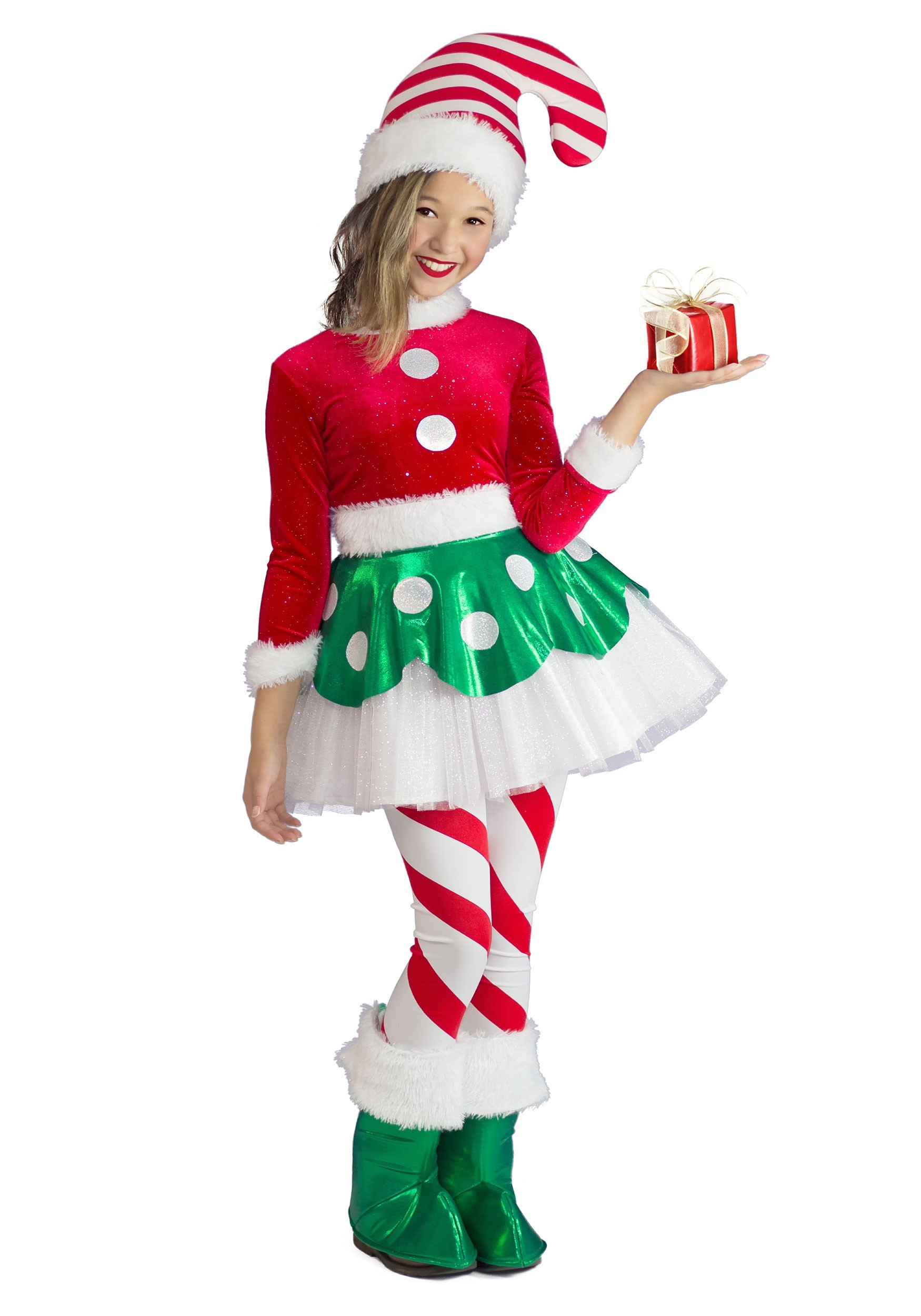 Christmas Candy Cane Costume  Candy Cane Elf Princess Costume