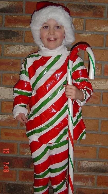 Christmas Candy Cane Costume  Homemade Costume Ideas for Halloween