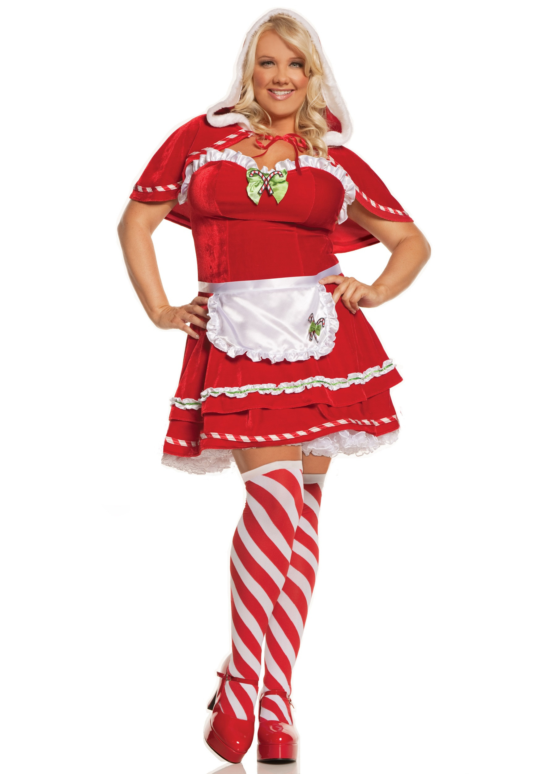 Christmas Candy Cane Costume  Plus Miss Candy Cane Costume