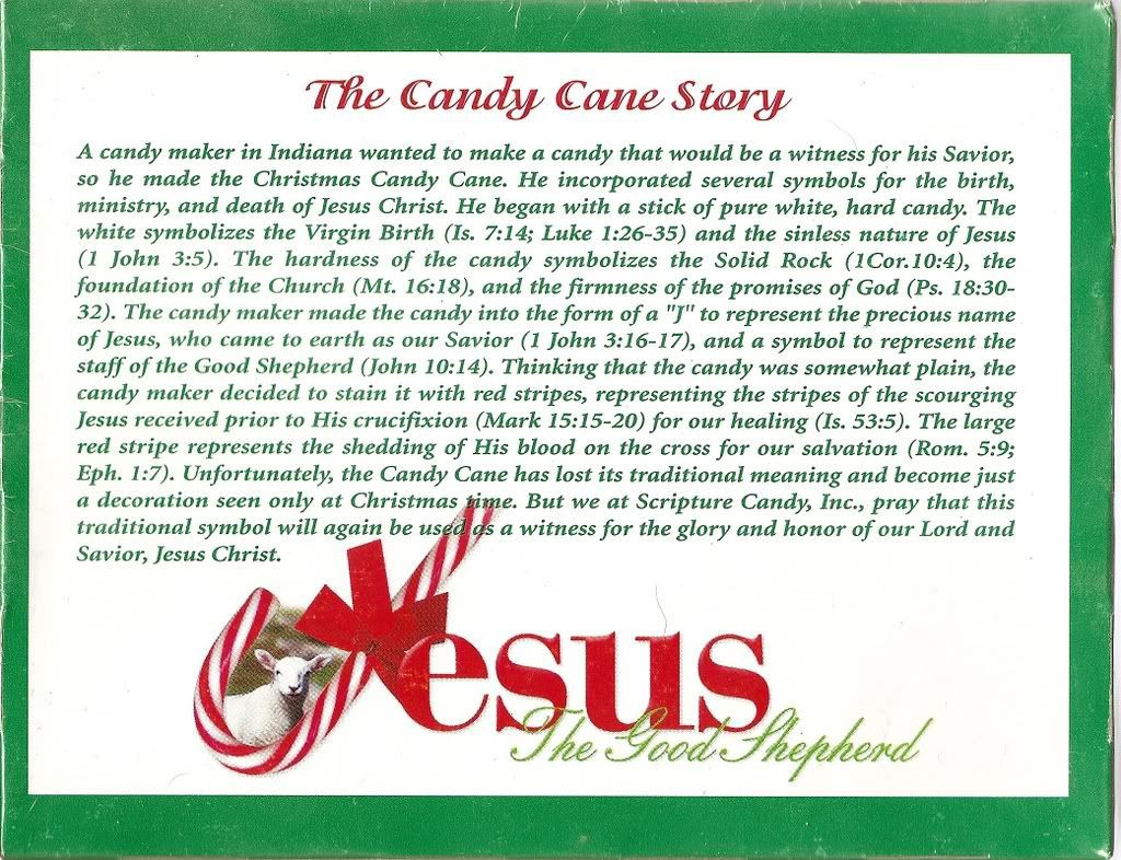 Christmas Candy Canes Story  The Candy Cane Bible Legend