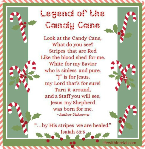 Christmas Candy Canes Story  Candy Cane Legend with Printables Life With Lorelai