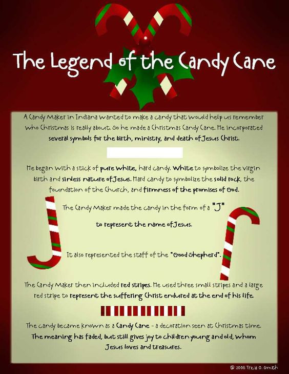 Christmas Candy Canes Story  The Legend of the Candy Cane White represents the virgin
