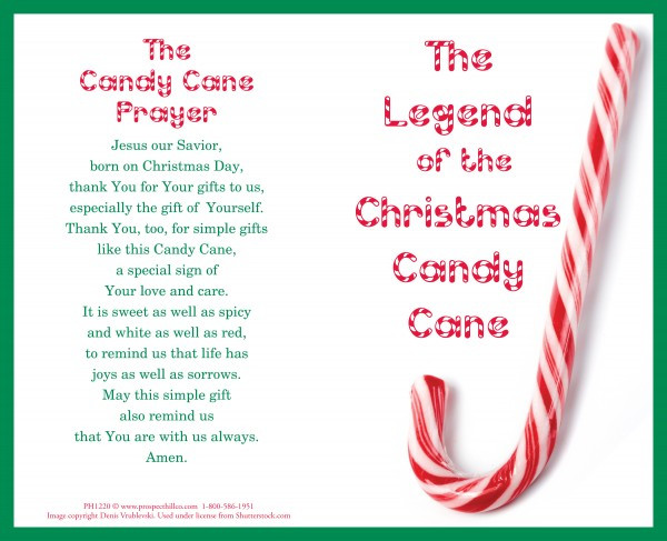 Christmas Candy Canes Story  The Legend The Christmas Candy Cane – Prospect Hill Co