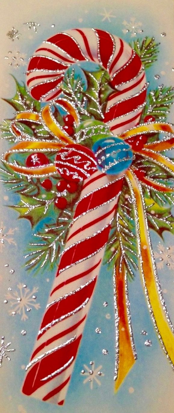 Christmas Candy Card  Best 25 Vintage christmas cards ideas on Pinterest