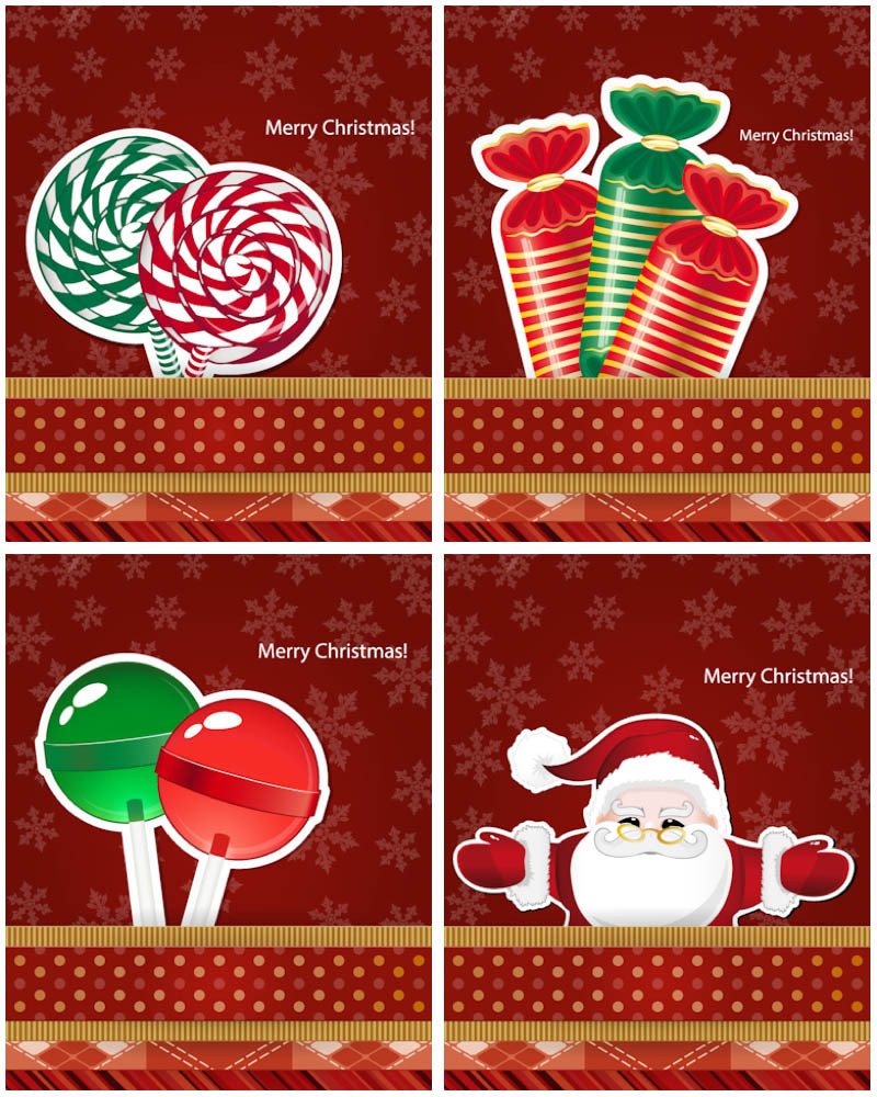 Christmas Candy Card  Christmas candy cards vector