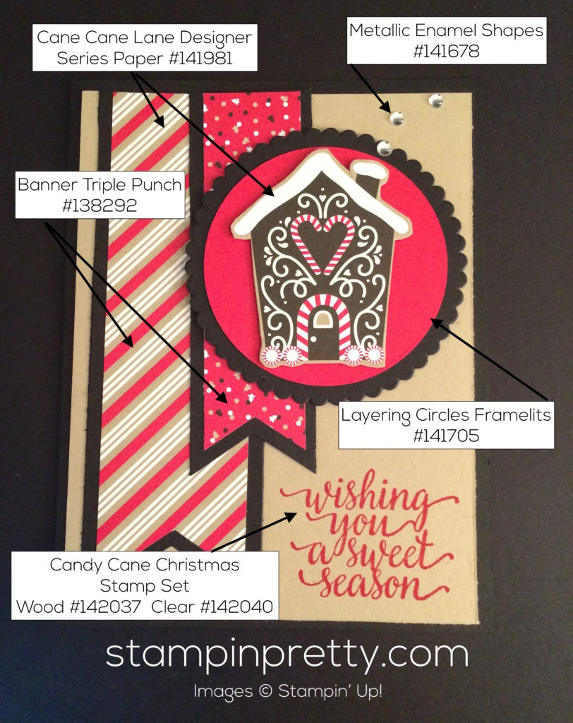 Christmas Candy Card  Gingerbread House Holiday Card Idea