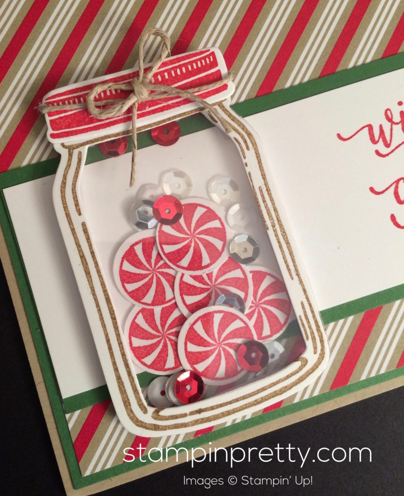 Christmas Candy Card  Wishing You a Candy Cane Christmas