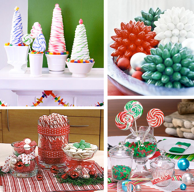 Christmas Candy Centerpieces  50 Great & Easy Christmas Centerpiece Ideas DigsDigs