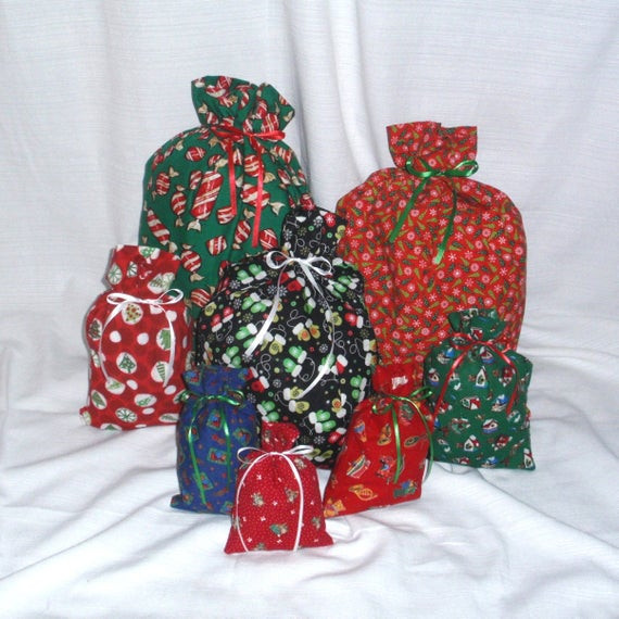 Christmas Candy Clearance  CLEARANCE Christmas Gift Bags 8 Candy Tree Reusable