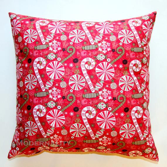 Christmas Candy Clearance  CLEARANCE Christmas Pillow Cover Candy by ModernalityHomeDecor