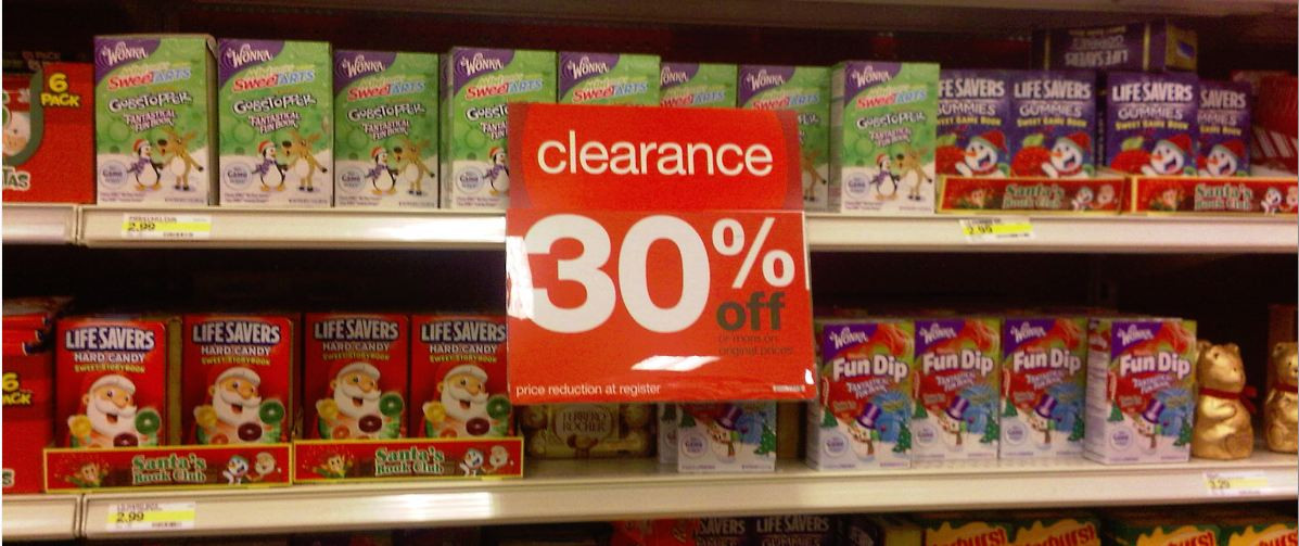 Christmas Candy Clearance  Tar – Clearance Sale = Cheap Holiday Candy