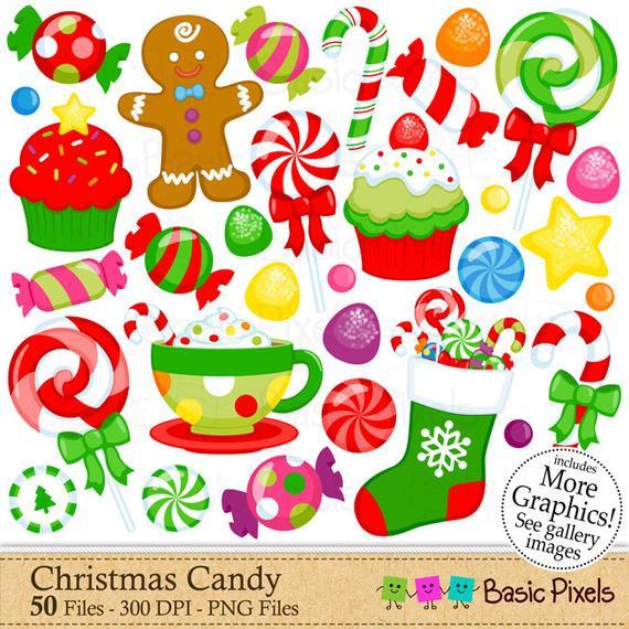 Christmas Candy Clipart  Christmas Candy Clipart Digital Clip Art Christmas