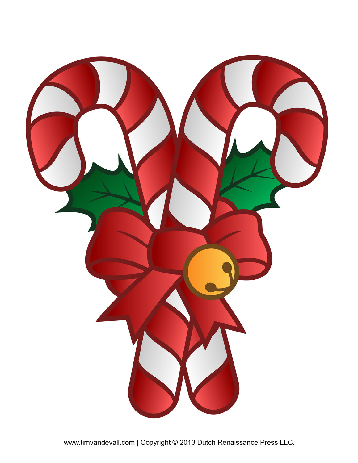 Christmas Candy Clipart  Free Candy Cane Template Printables Clip Art & Decorations