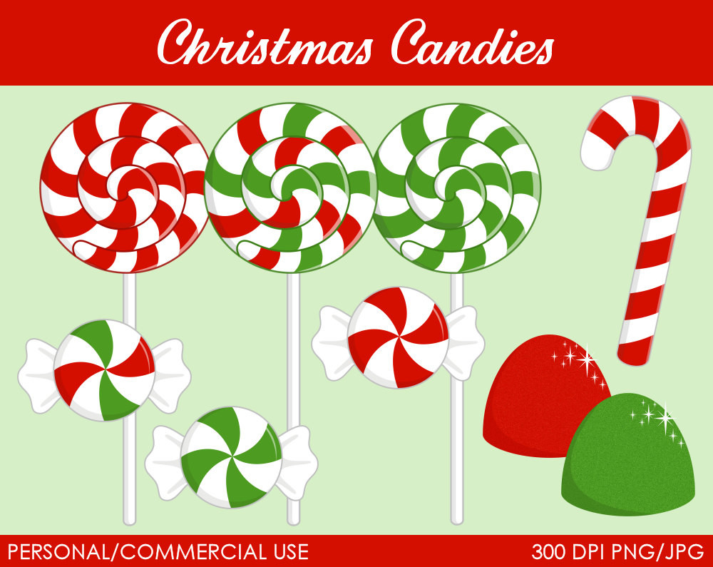 Christmas Candy Clipart  Christmas Can s Clipart Digital Clip Art by MareeTruelove