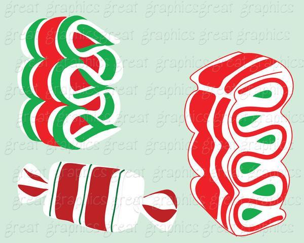 Christmas Candy Clipart  Christmas Candy Clip Art Christmas Clipart Digital