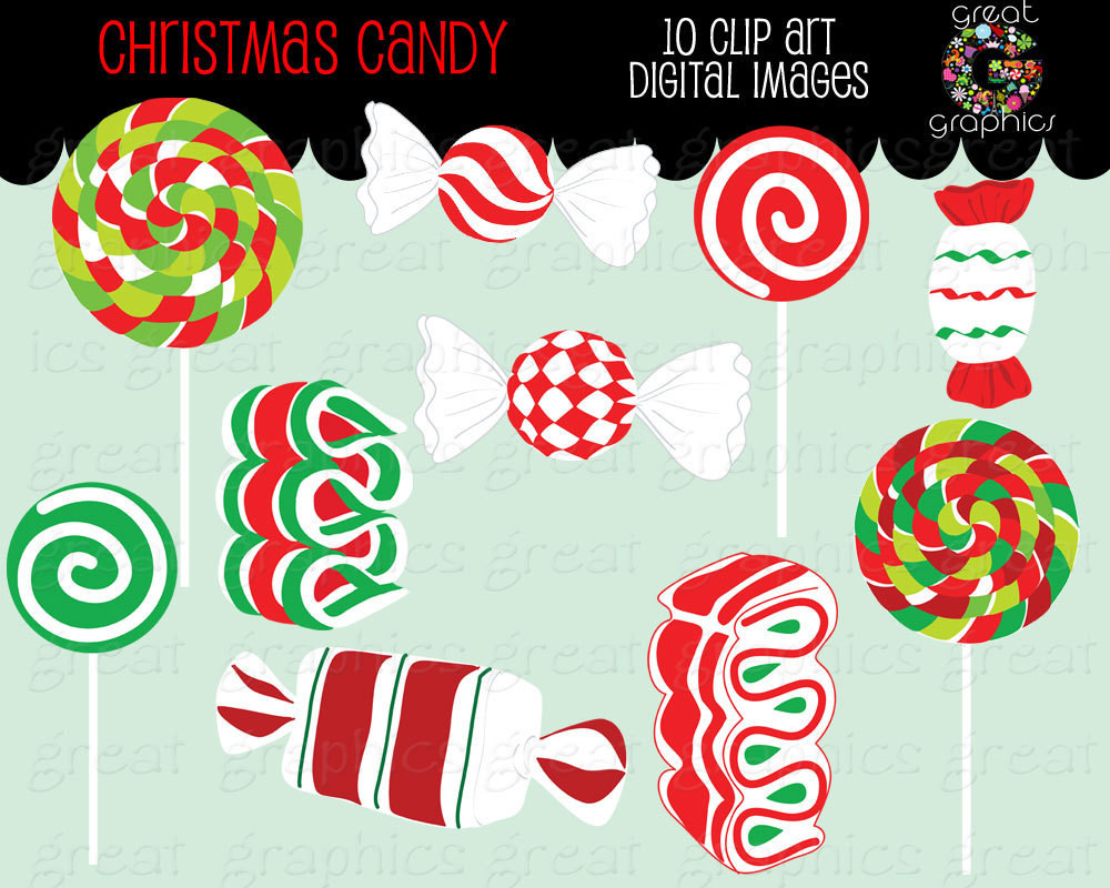 Christmas Candy Clipart  Christmas Candy Clip Art Christmas Clipart Digital Christmas