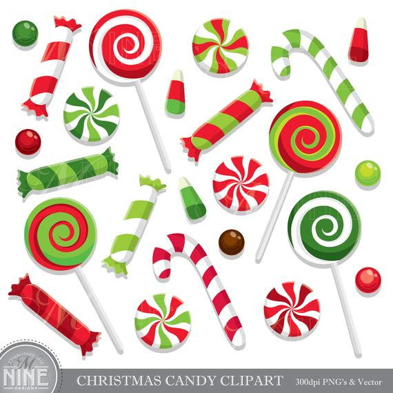 Christmas Candy Clipart  CHRISTMAS CANDY Clip Art Holiday CANDY Clipart Downloads