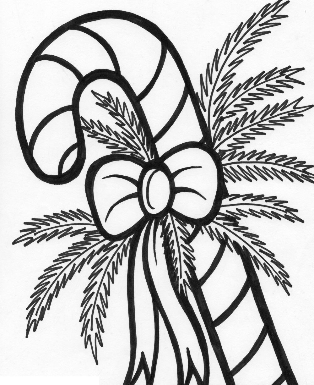 Christmas Candy Coloring Pages  Printable Candy Cane Coloring Pages Coloring Home