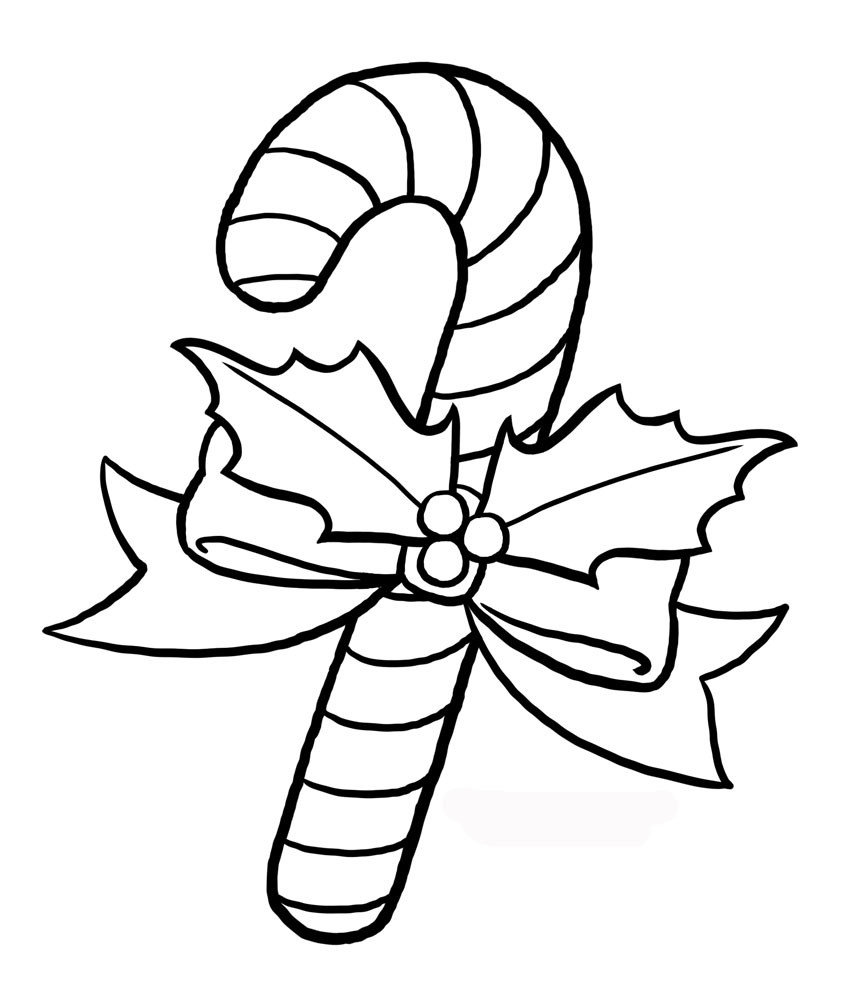Christmas Candy Coloring Pages  Free Printable Candy Cane Coloring Pages For Kids