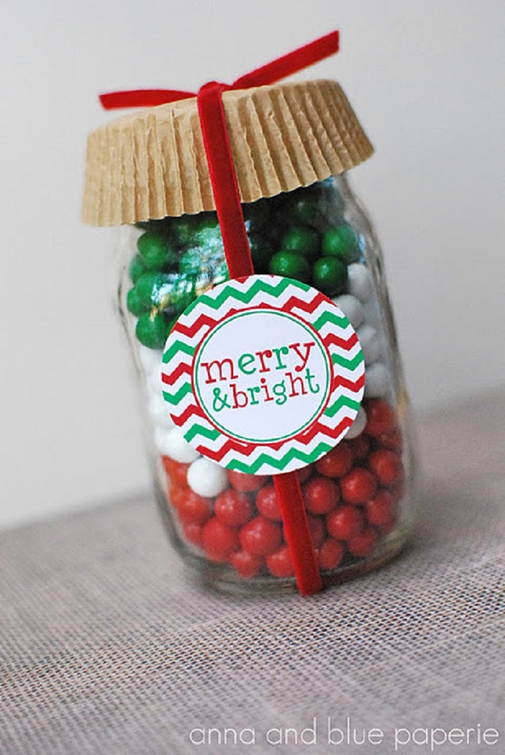 Christmas Candy Containers  Top 10 Mason Jars Christmas Decorations For Your Cookies