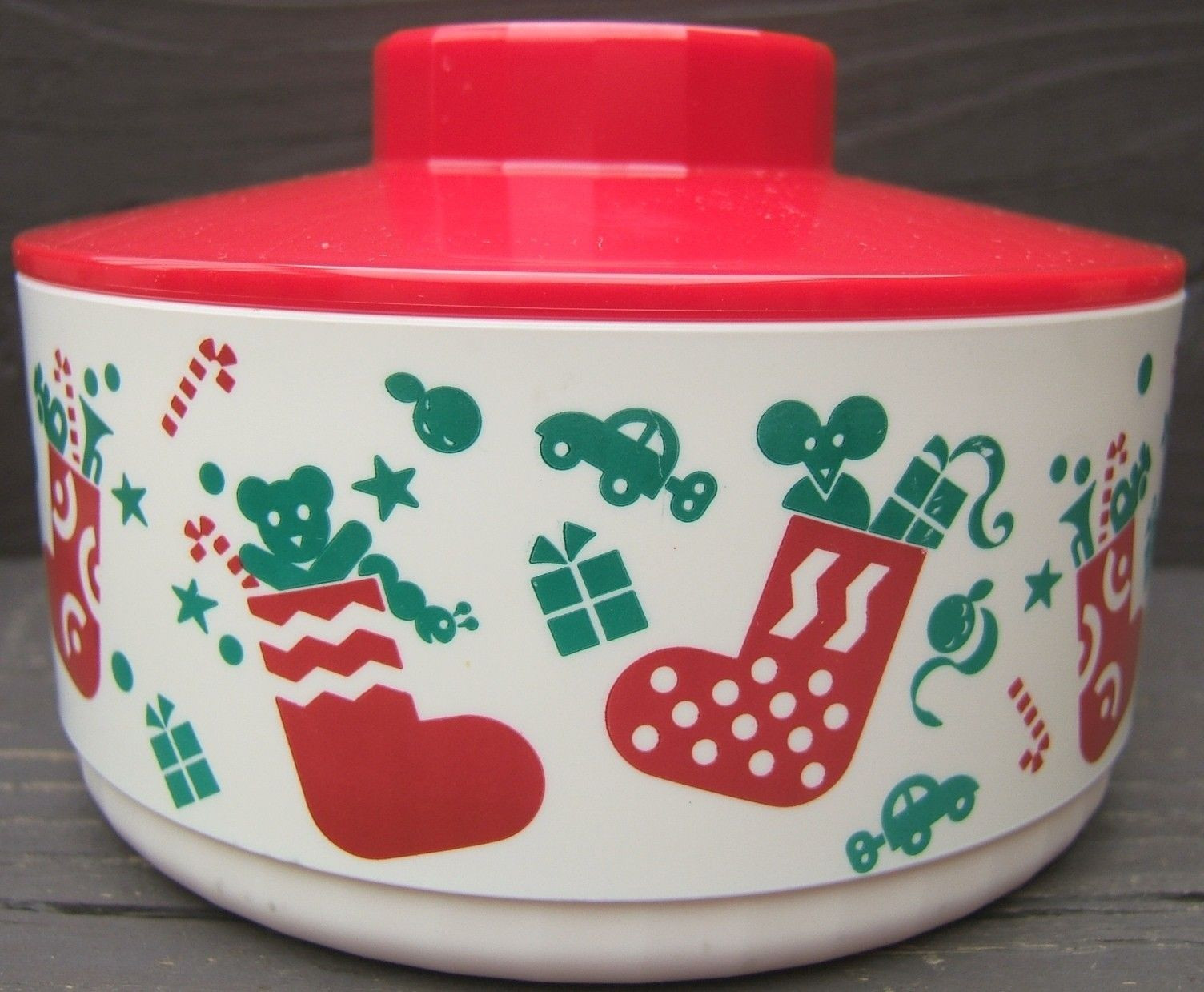 Christmas Candy Containers  Christmas Holiday Cookie Candy Containers with Cover Lids