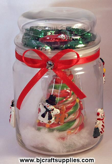 Christmas Candy Containers  Recycled Christmas Crafts