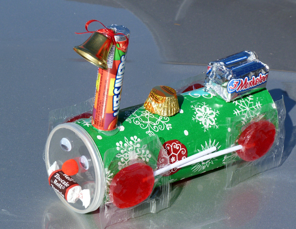 Christmas Candy Craft Ideas  Candy Christmas Train