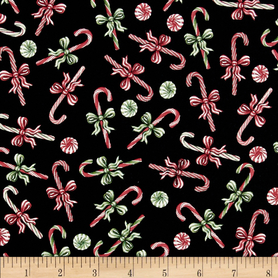 Christmas Candy Fabric  Gingerbread Christmas Peppermint Candy Blue Discount