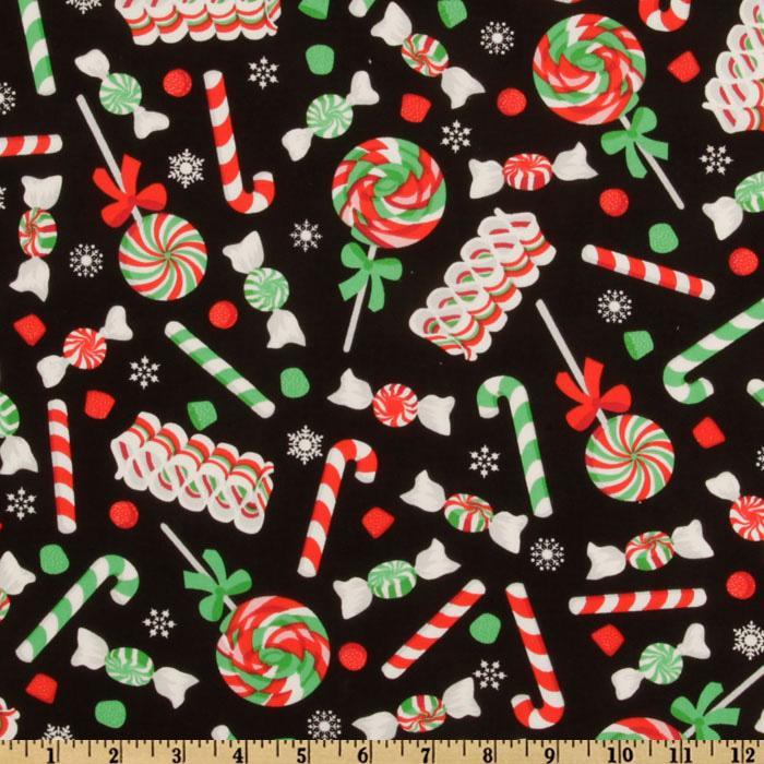 Christmas Candy Fabric  Sweet Bee Buzzings Mmmmm fabric Christmas edition