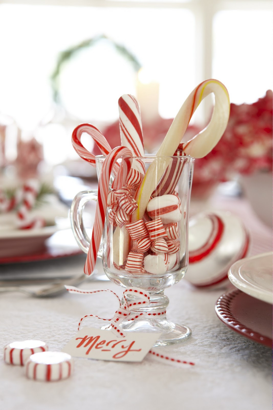 Christmas Candy Favors  Karin Lidbeck Holiday Table DIY Candy Cane Style