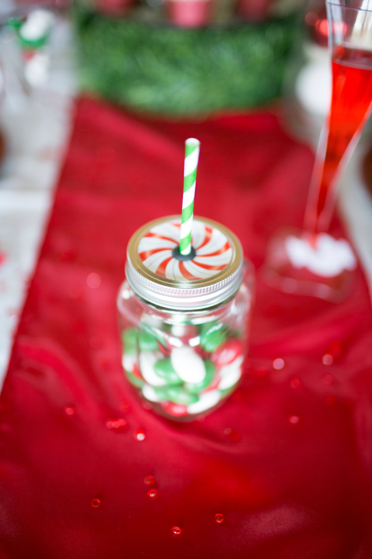 Christmas Candy Favors  Christmas Peppermint Mason Jar Baby Shower Bridal Shower