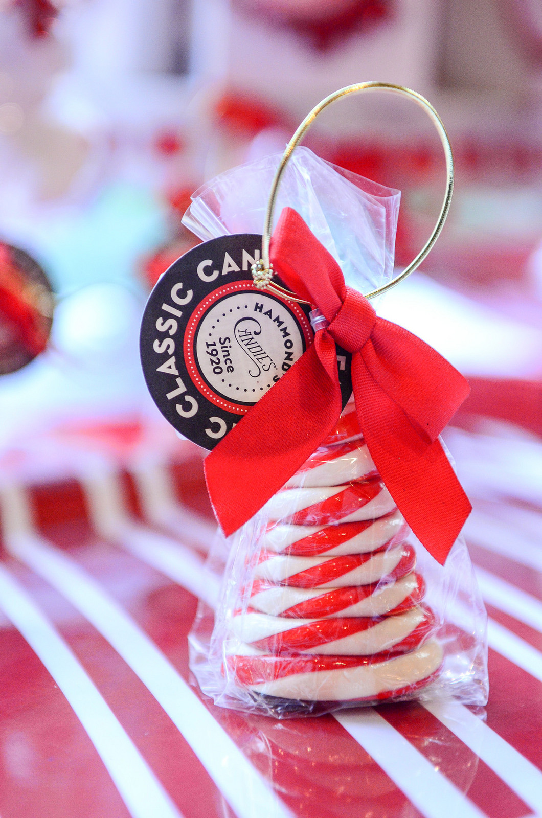 Christmas Candy Favors  Glittering Red & White Christmas Party