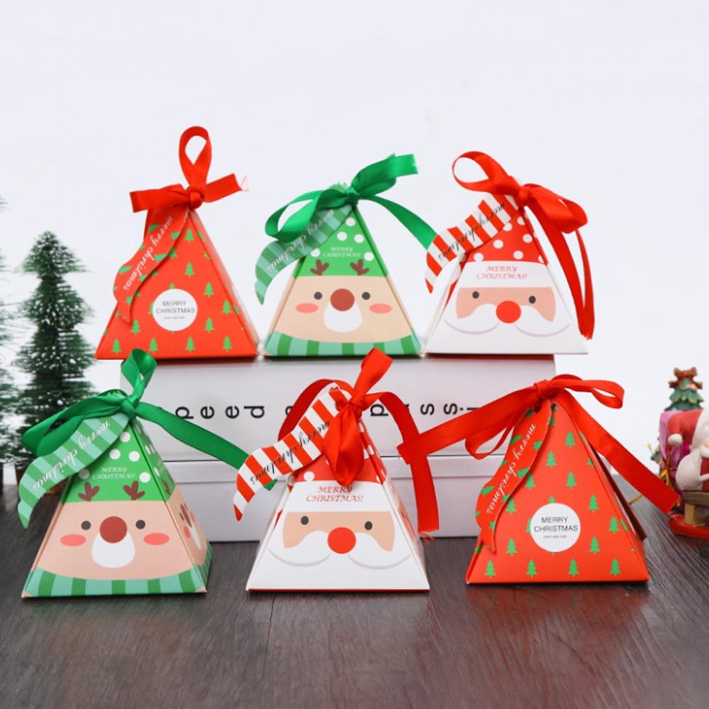 Christmas Candy Gift Box  10 PCS Set Merry Christmas Candy Box Bag Christmas Tree