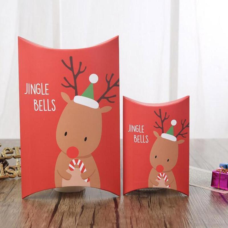 Christmas Candy Gift Box  Merry Christmas Pillow Boxes DIY Christmas Gift Box Candy