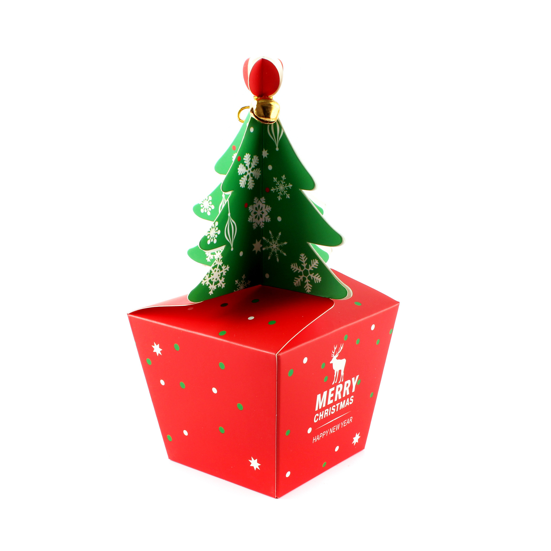 Christmas Candy Gift Box  5PCS Xmas Christmas Gift Boxes Christmas Eve Apple Box