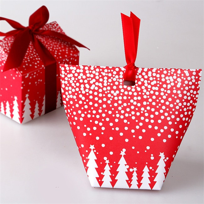 Christmas Candy Gift Box  Small candy boxes Christmas tree packaging t box of