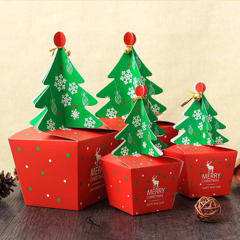 Christmas Candy Gift Box  Christmas 2017 Paper Gift Box Candy Box Fit Wedding Party