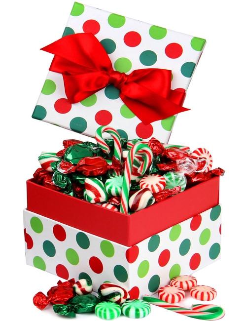 Christmas Candy Gift Box  Christmas Jovial Dot Candy Gift Box • Christmas Candy