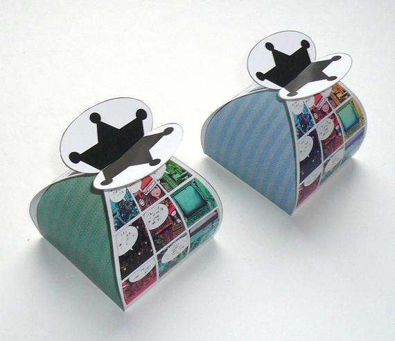 Christmas Candy Gift Boxes  Christmas ic favor box DIY printable by FredaFprintables
